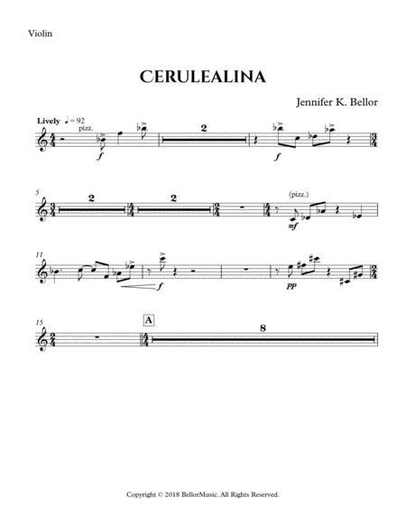 Cerulealina (2018) - violin, cello, harp, percussion and bass - Parts