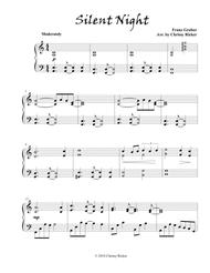 Silent Night (contemporary piano solo)
