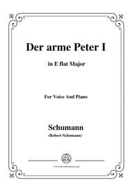 Schumann-Der arme Peter 1,in E flat Major,for Voice and Piano