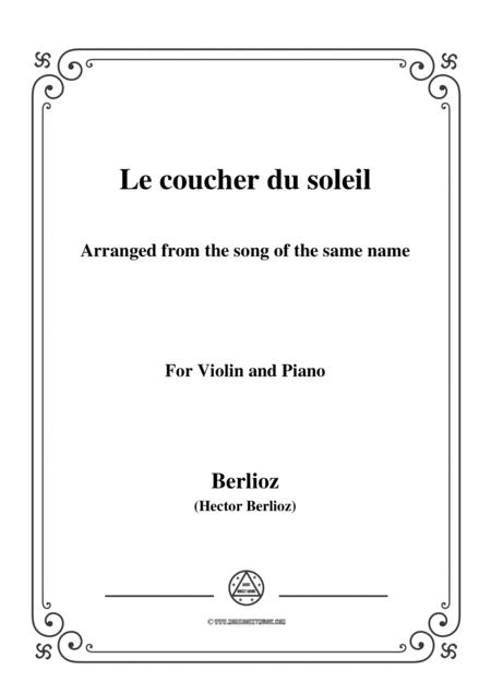 Berlioz-Le coucher du soleil,for Violin and Piano