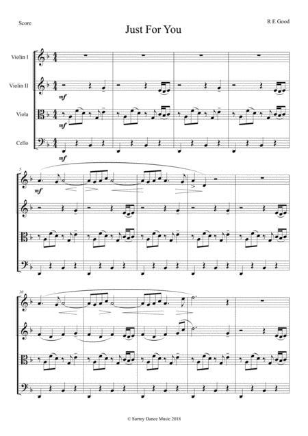 Just For You (melancholy string quartet)