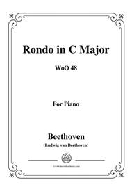 Beethoven-Rondo in C Major,WoO 48,for piano