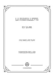 Bellini-La farfalletta in F Major,for voice and piano