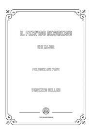 Bellini-Il fervido desiderio in E Major,for voice and piano