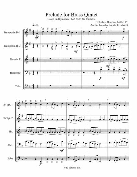Prelude for Brass Quintet