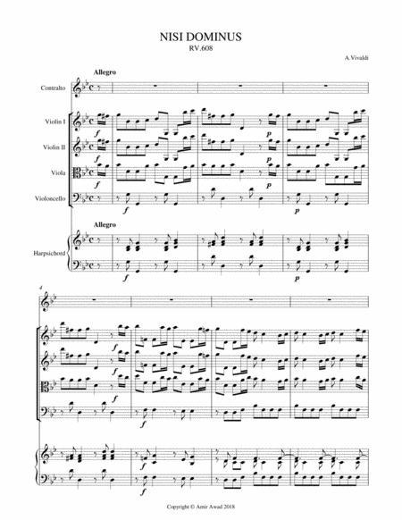 Vivaldi Nisi Dominus for Contralto solo and string orchestra RV 608
