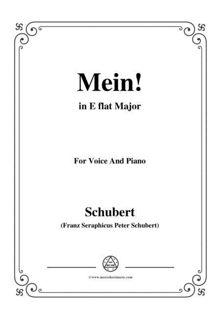 Schubert-Mein,in E flat Major,Op.25,No.11,for Voice and Piano