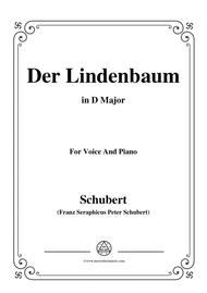 Schubert-Der Lindenbaum,Op.89,No.5,in D Major,for Voice and Piano