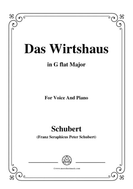 Schubert-Das Wirtshaus,in G flat Major,Op.89,No.21,for Voice and Piano
