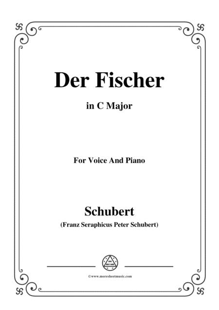 Schubert-Der Fischer,in C Major,Op.5,No.3,for Voice and Piano