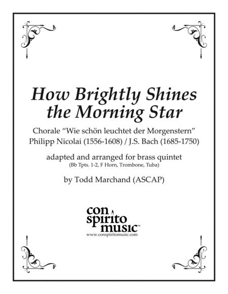 How Brightly Shines the Morning Star - brass quintet
