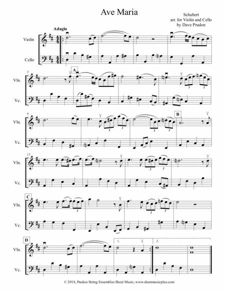 Schubert Ave Maria for Violin and Cello