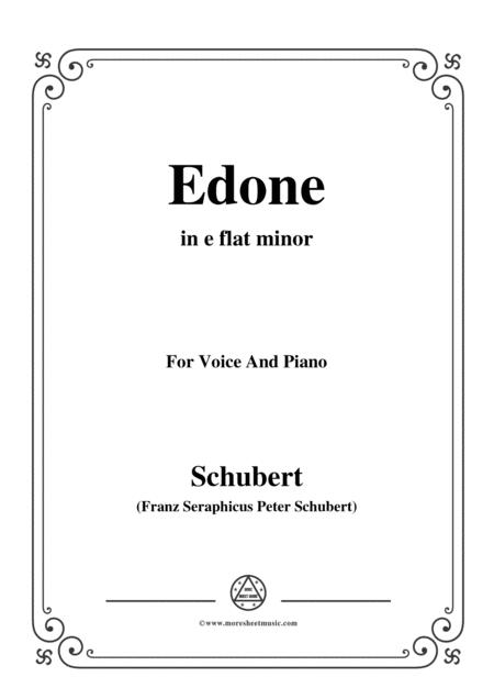 Schubert-Edone,D.445,in e flat minor,for Voice and Piano