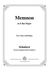 Schubert-Memnon,in E flat Major,Op.6,for Voice and Piano