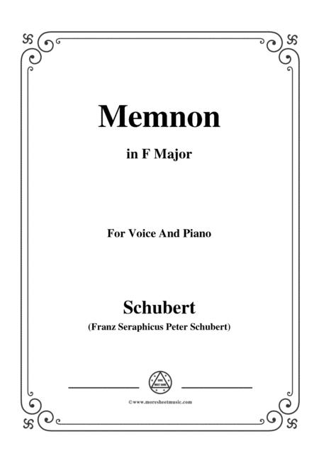 Schubert-Memnon,in F Major,Op.6,for Voice and Piano