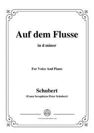 Schubert-Auf dem Flusse,in d minor,Op.89,No.7,for Voice and Piano