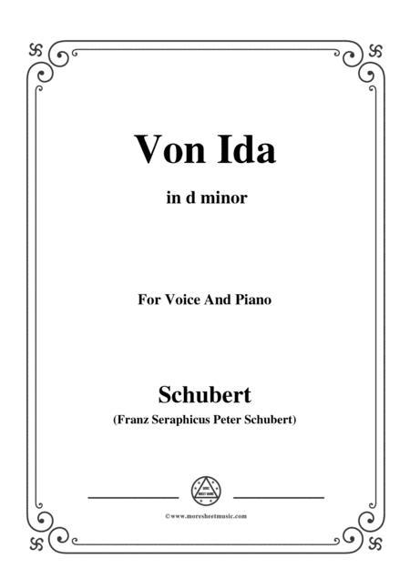 Schubert-Von Ida,in d minor,for Voice and Piano
