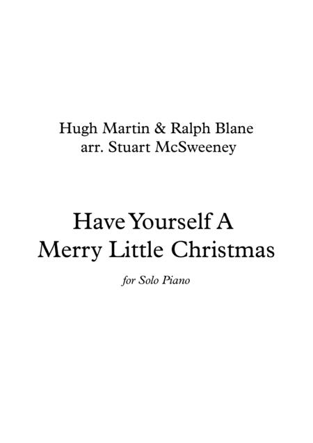 Have Yourself A Merry Little Christmas - Piano Solo
