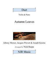 Autumn Leaves (Violin & Piano) intermediate