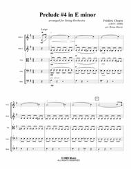 PRELUDE #4 IN E MINOR - Frederic Chopin - arranged for string orchestra (score, parts, and license)