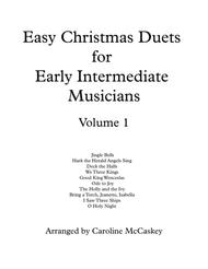 Easy Christmas Duets for Early Intermediate Cello and Bass Duet Volume 1