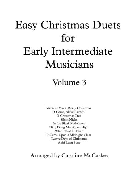 Easy Christmas Duets for Early Intermediate Cello and Bass Duet Volume 3