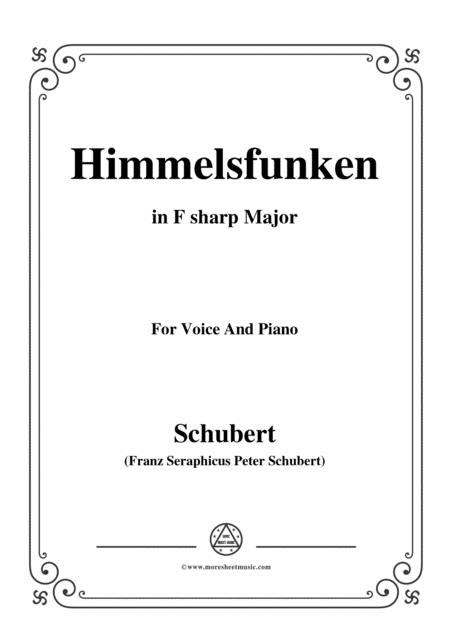 Schubert-Himmelsfunken,in F sharp Major,for Voice and Piano