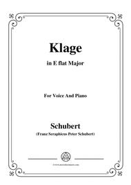 Schubert-Klage(Lament),in E flat Major,D.415,for Voice and Piano