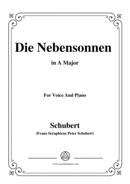 Schubert-Die Nebensonnen,in A Major,Op.89 No.23,for Voice and Piano