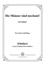 Schubert-Die Männer sind mechant!,in f minor,Op.95 No.3,for Voice and Piano