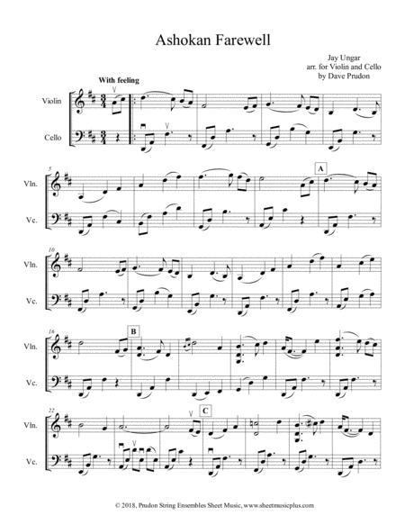 Ashokan Farewell for Violin and Cello