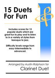 15 Clarinet Duets for Fun (popular classics) - various levels