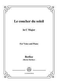 Berlioz-Le coucher du soleil in C Major,for voice and piano