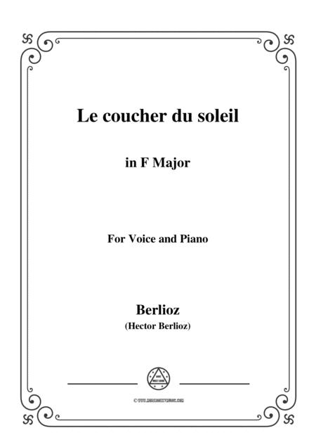 Berlioz-Le coucher du soleil in F Major,for voice and piano