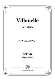 Berlioz-Villanelle in F Major,for voice and piano
