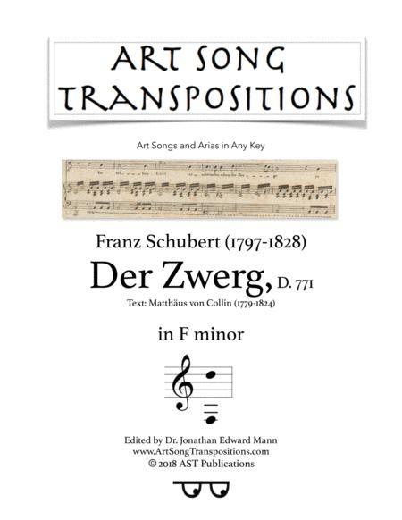 Der Zwerg, D. 771 (F minor)