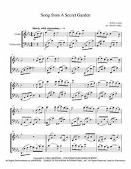 Song From A Secret Garden Arranged For Violin Amp Cello Duet By Secret Garden Digital Sheet Music For Score Download Print H0 461959 Sc001239984 Sheet Music Plus