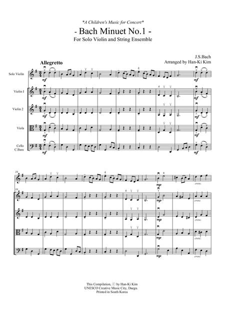 Bach Minuet No.1.2.3 (For Violin and Strings)