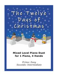 The Twelve Days of Christmas (Easy Piano Duet; 1 Piano, 4-Hands)