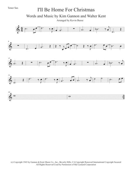 i'll be home for christmas (easy key of c) tenor sax by bing crosby -  digital sheet music for individual part,sheet music single,solo part -  download & print h0.462897-375250 | sheet music  sheet music plus
