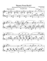 Themes From Rach3 - Rachmaninoff Piano Concerto No 3 - 1st movement - Piano Solo Arrangement
