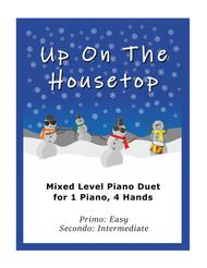 Up On the Housetop (Easy Piano Duet; 1 Piano, 4-Hands)