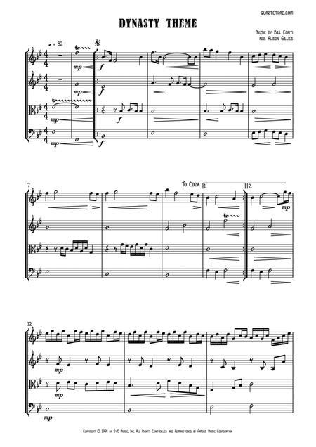 Dynasty Theme - String Quartet