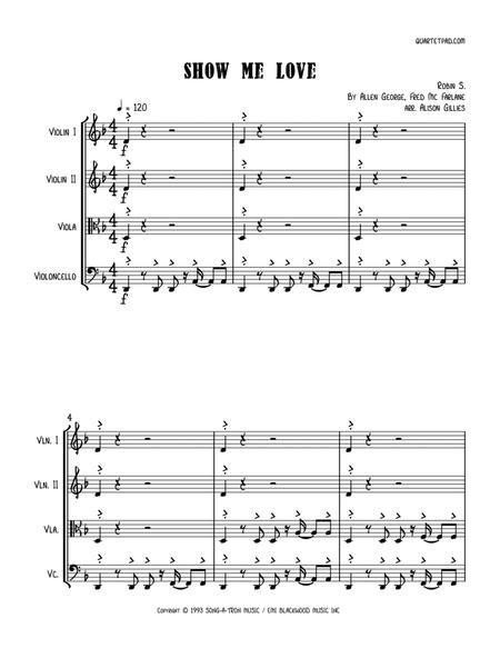Show Me Love (Robin S.) - String Quartet