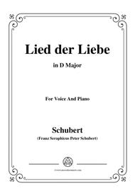 Schubert-Lied der Liebe,in D Major,for Voice and Piano