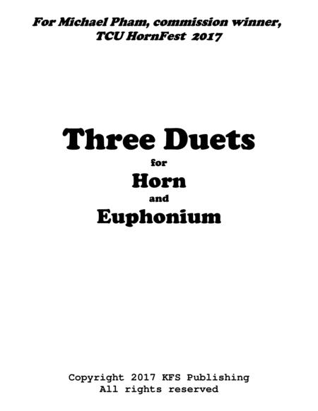 Three Duets for Horn and Trombone (Euphonium)
