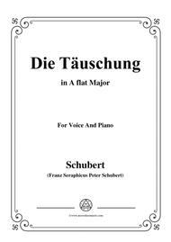 Schubert-Die Täuschung,in A flat Major,Op.165 No.4,for Voice and Piano