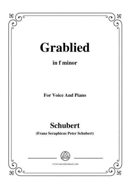 Schubert-Grablied,in f minor,D.218,for Voice and Piano