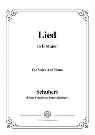 Schubert-Lied(Es ist so angenehm),in E Major,D.284,for Voice and Piano