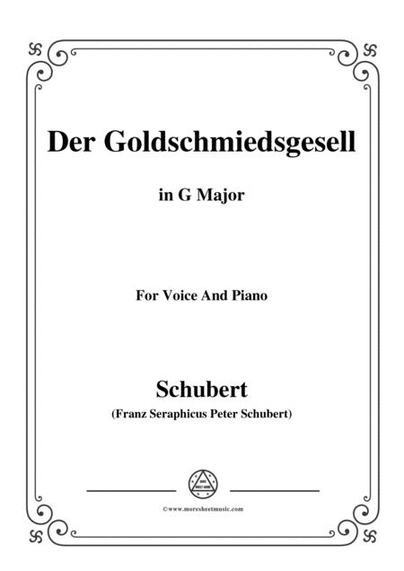 Schubert-Der Goldschmiedsgesellc,in G Major,D.560,for Voice and Piano